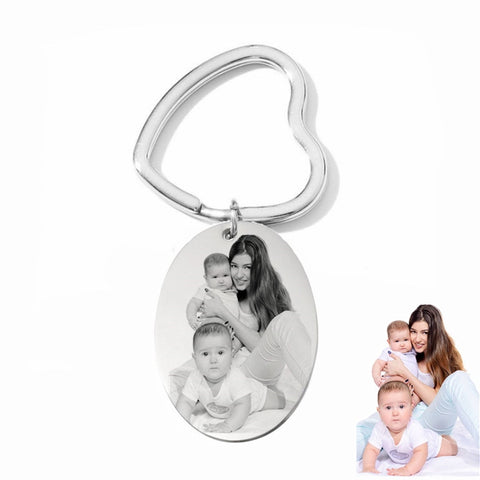 Oval Photo Keychains