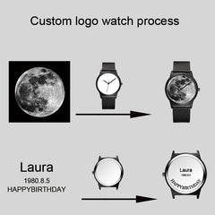 B-0000 Unisex Photo Memories Custom Wristwatch