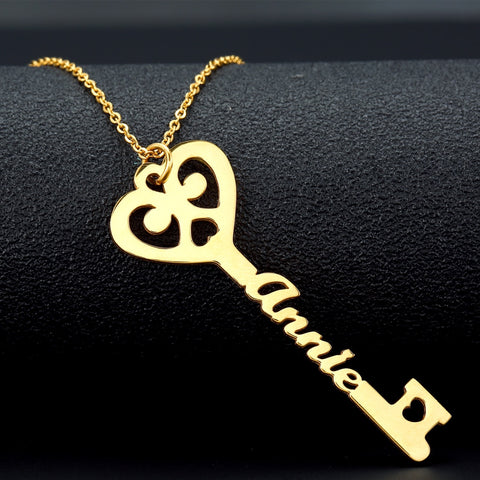 Personalized Key Necklace