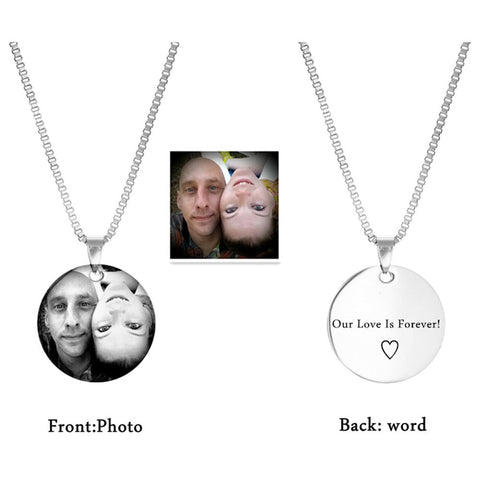 Our Love Is Forever Photo Pendant Necklace