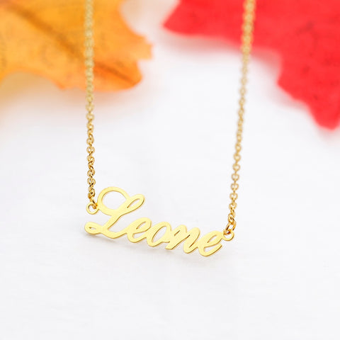 Gold Plated Necklace with 1-5 Names & Birthstones