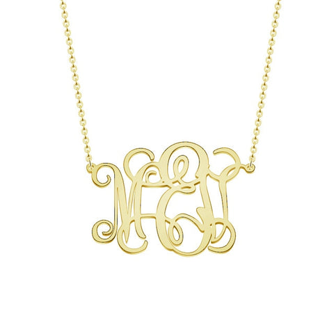 Personalized Dainty Monogram Necklace