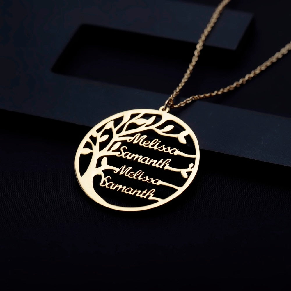 Custom Family Tree Names Necklace