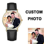 Own Design Watches OEM Printing Face Custom Wristwatch Brand Logo or Name Engraved Watch