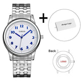 B-8204 Stainless Steel Strap Men's Watch