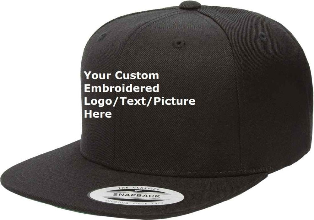 Text/logo/picture Embroidered Snapback Custom Cap