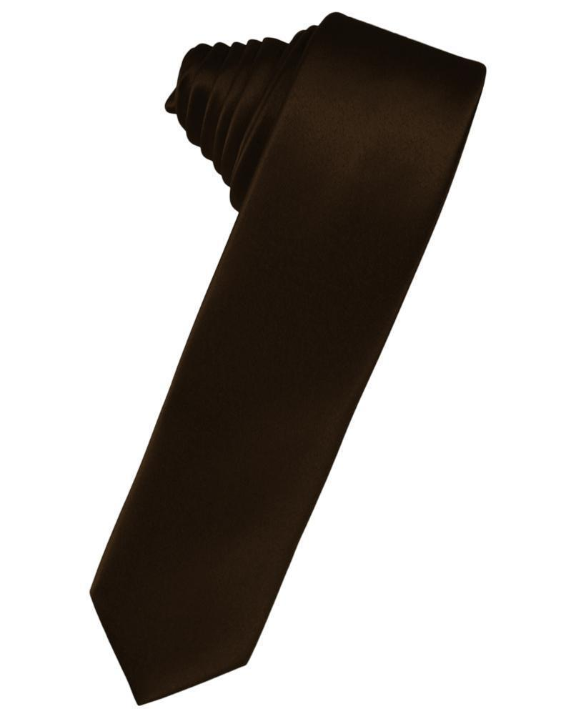Corbata Luxury Satin Skinny Chocolate Caballero