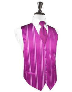 Chaleco Striped Satin Fuschia Caballero