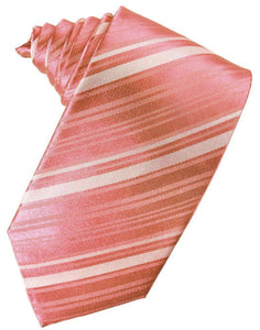 Corbata Striped Satin Guava Caballero