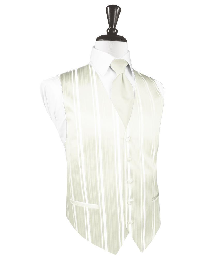 Chaleco Striped Satin Ivory Caballero