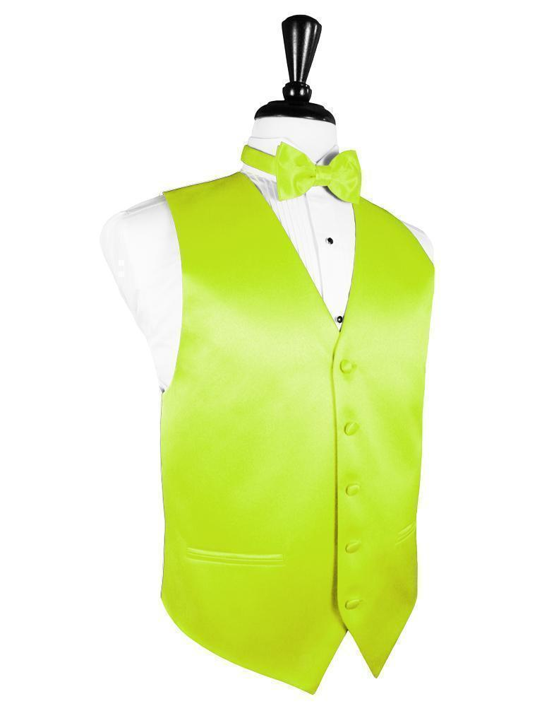 Chaleco Luxury Satin Lime Caballero