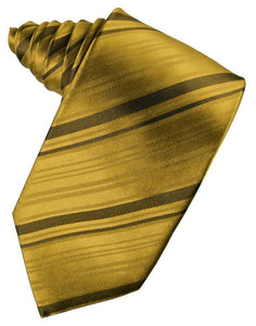 Corbata Striped Silk New Gold Caballero