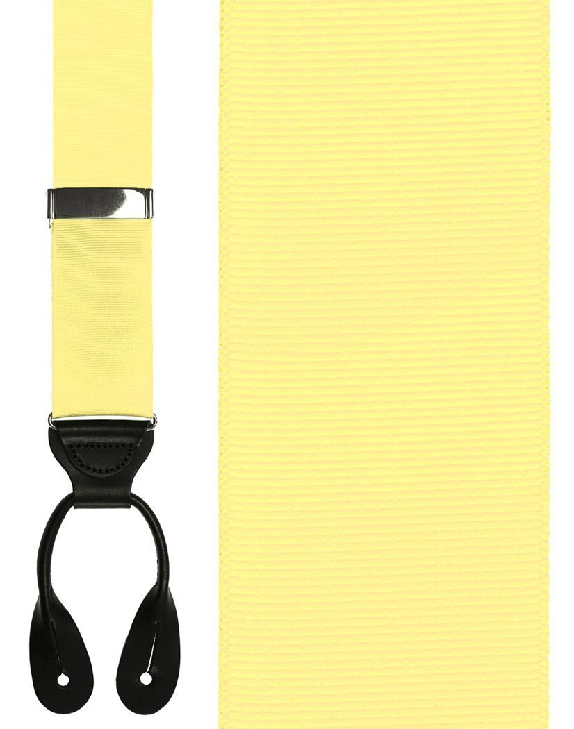 Tirantes Grosgraine Ribbon II Pale Yellow Caballero