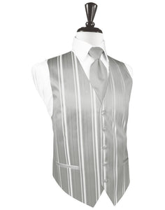 Chaleco Striped Satin Platinum Caballero