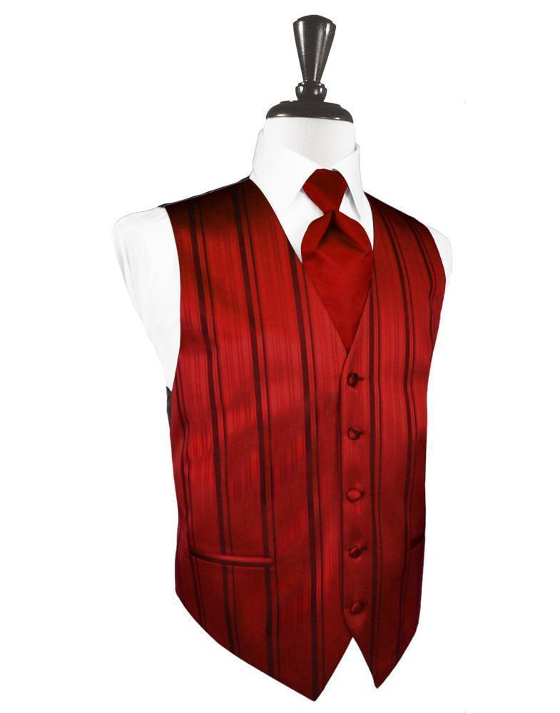 Chaleco Striped Satin Scarlet Caballero