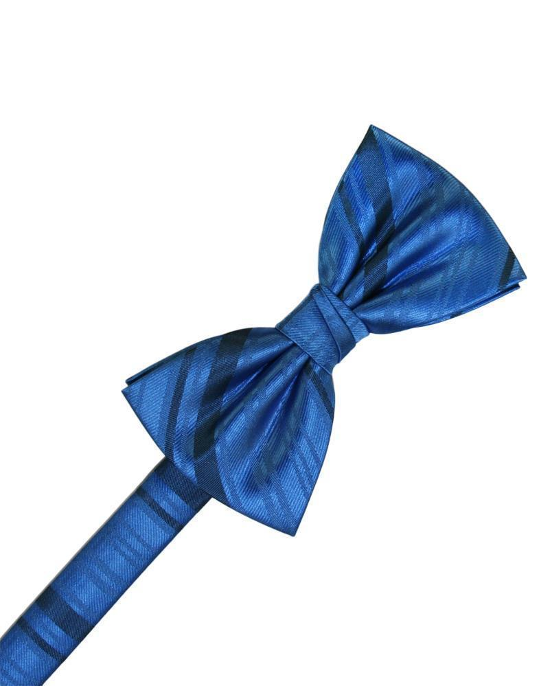 Corbatín Striped Satin Royal Blue Caballero