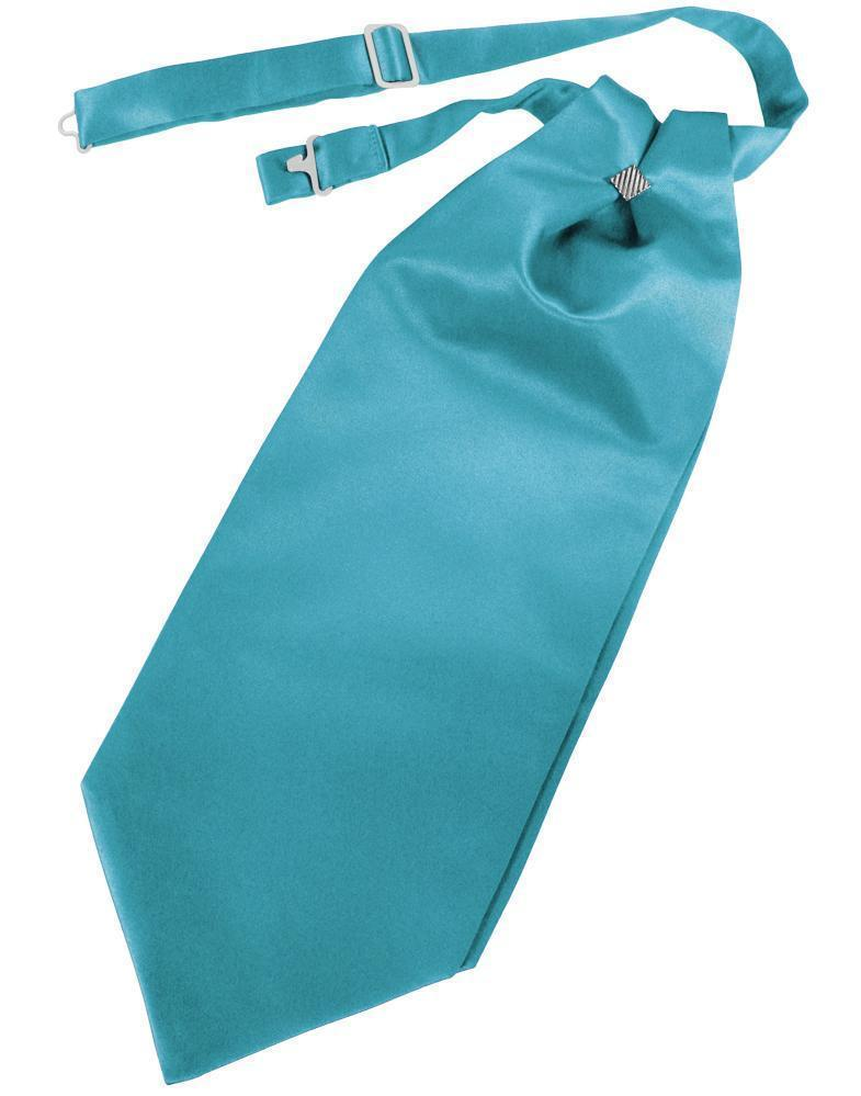 Cravat Luxury Satin Turquoise Caballero