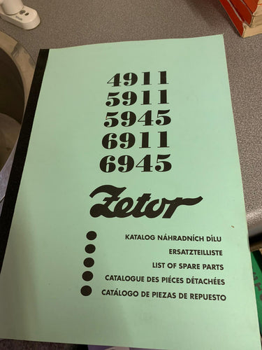 Zetor Spare Parts Manual for 4911, 5911, 5945, 6911 and 6945