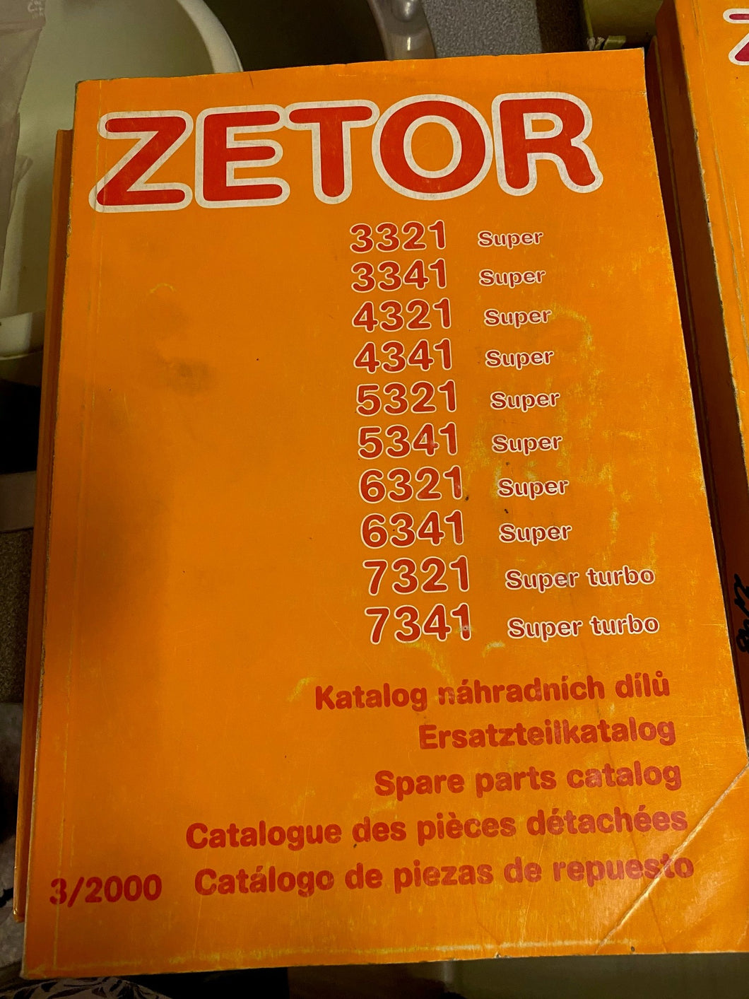 Spare Parts Manual for Zetor 3321 Super to 7341 Super Turbo