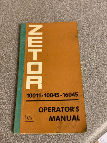 Operators Manual for 10011, 10045 and 16045
