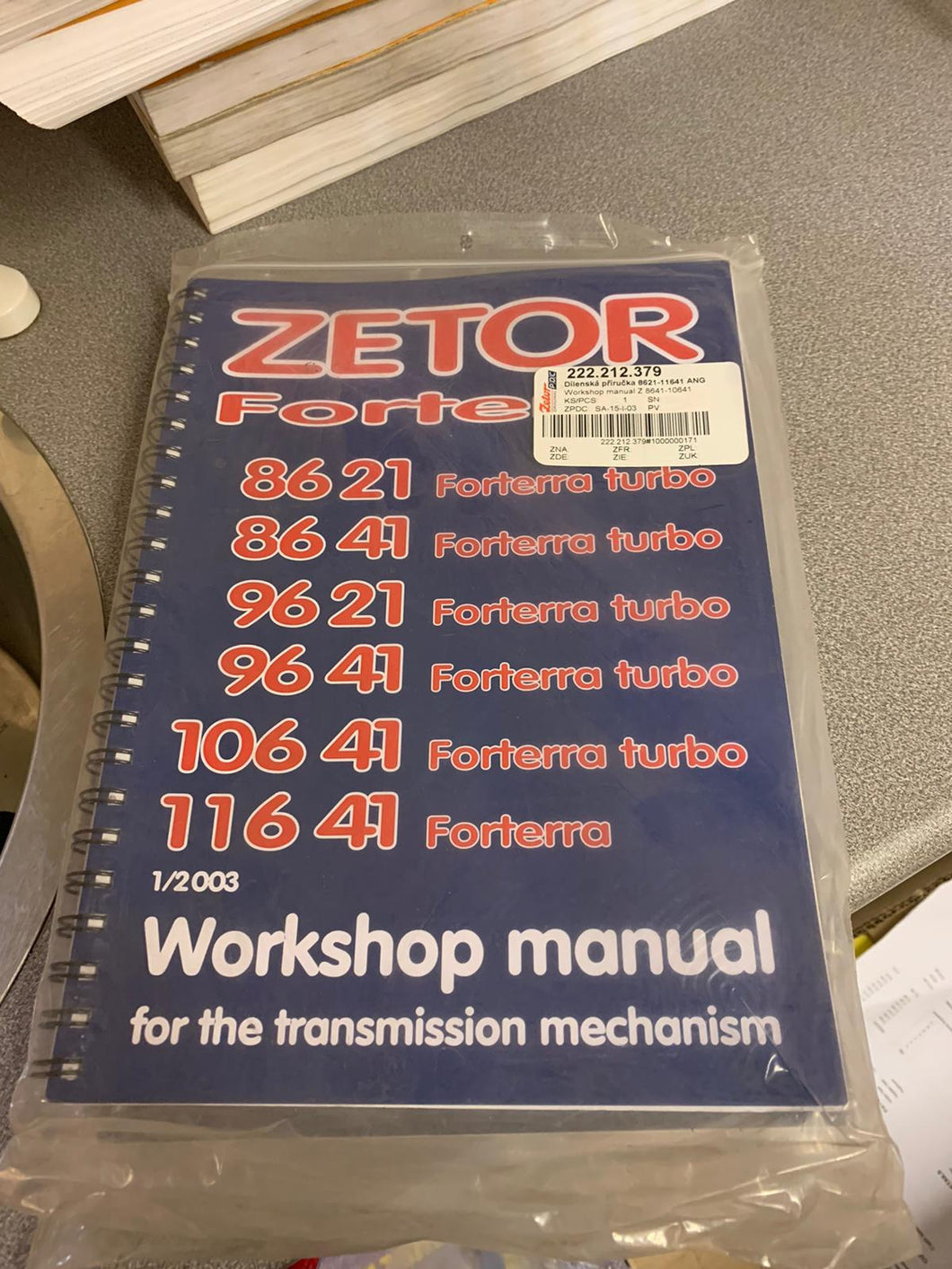 Workshop Manual for Forterra models 8621- 11641 Transmission Mechanisms