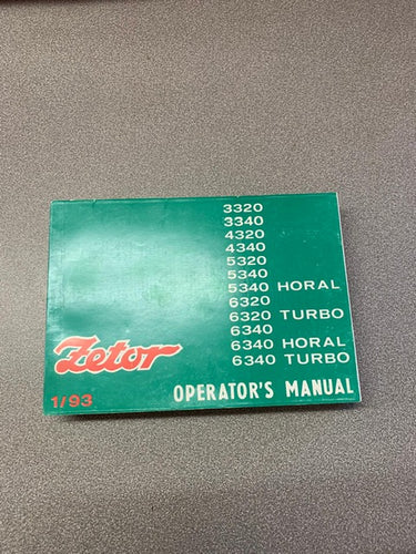 Operators Manual for Zetor 3320, 3340, 4320, 4340, 5320, 5340, 6320, 6340