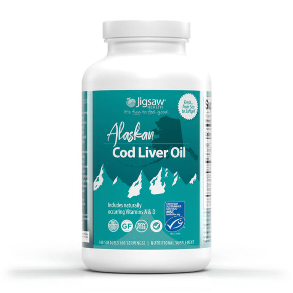 Jigsaw Health Alaskan Cod Liver Oil - 60 servings