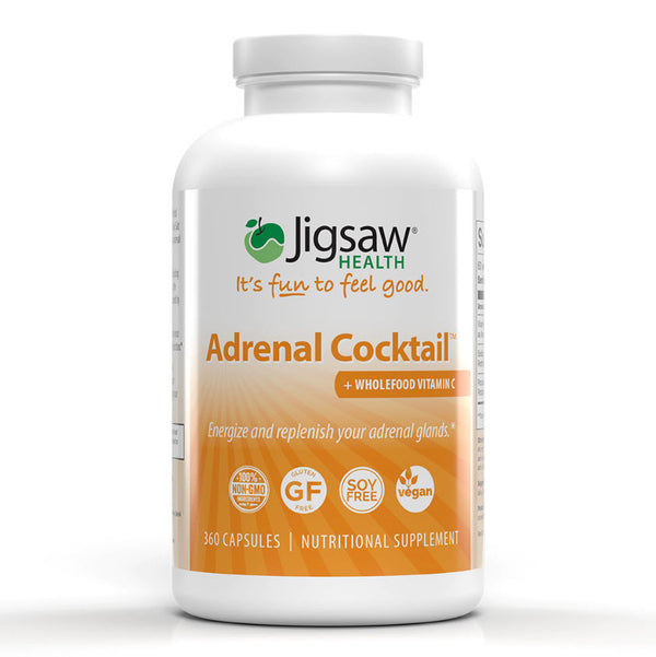 Jigsaw Health Adrenal Cocktail + Wholefood Vitamin C Capsules 360ct