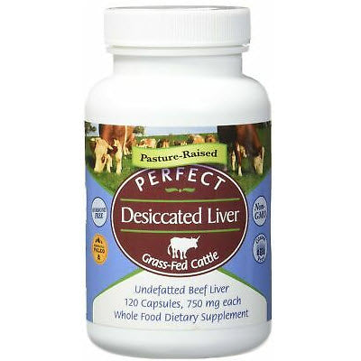 Perfect Supplements 100% Grass Fed Desiccated Liver 120ct