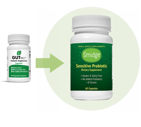 Smidge Sensitive <br> Probiotic 60ct <br> (formerly GutPro capsules)