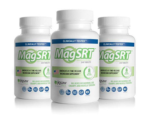 Jigsaw Health Magnesium W/SRT 240ct 3 Pack