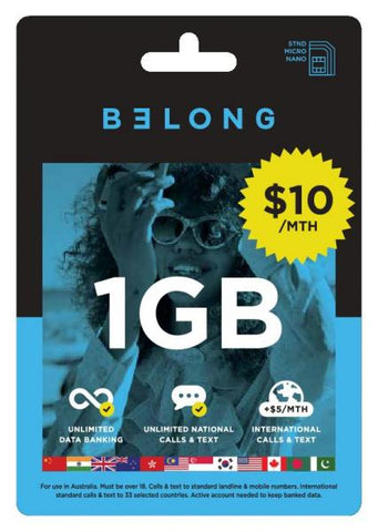 Belong $10 Starter Kit Sim