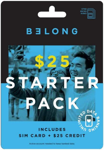 Belong $25 Starter Kit Sim