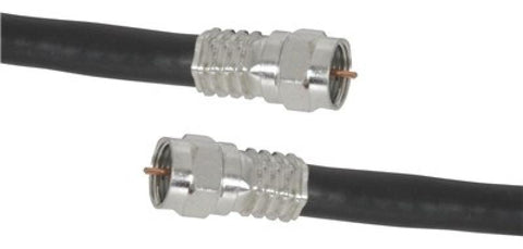 3m High Quality RG6 Quad Shield Cable with Crimped Connectors