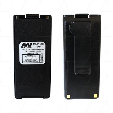 Two Way Radio Battery - Replacement for Icom BP195 / BP196 / BP196MH