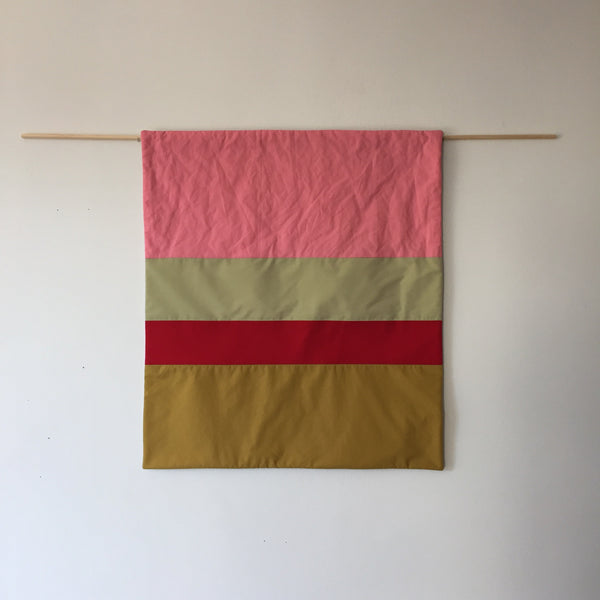 Stripes for your Wall Blanket # 11 - Pink/Red