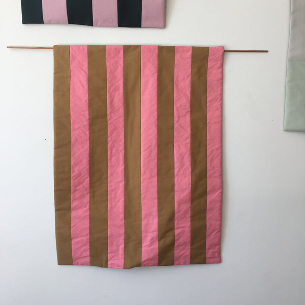 Stripes for your Wall Blanket # 2 - Pink/Cognac