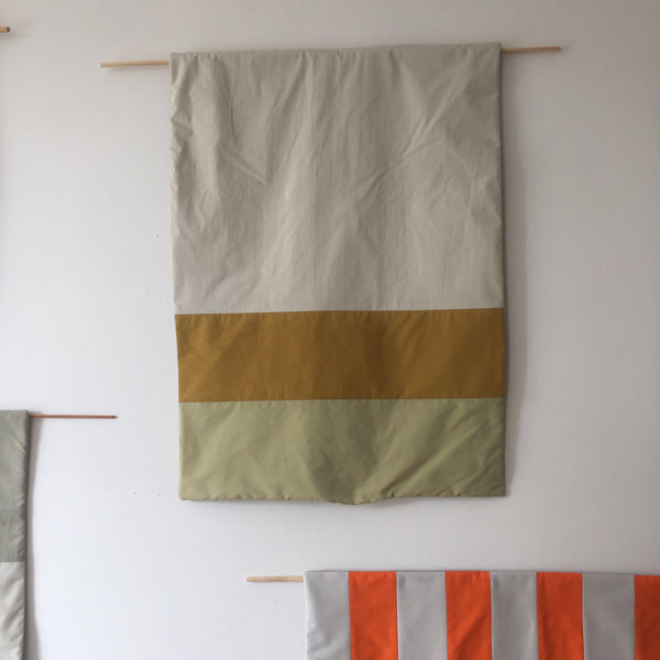 Stripes for your Wall Blanket # 5 - Pistache