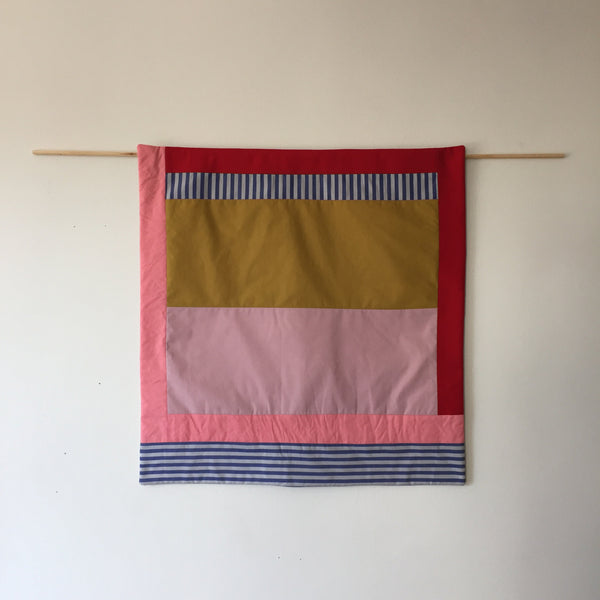 Stripes for your Wall Blanket # 12 - Rose/Blue stripe