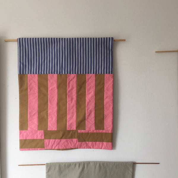 Stripes for your Wall Blanet # 6 - Pink/Blue
