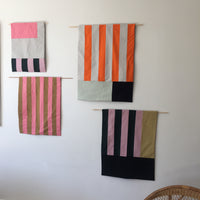 Stripes for your Wall Blanket # 4 - Orange mix