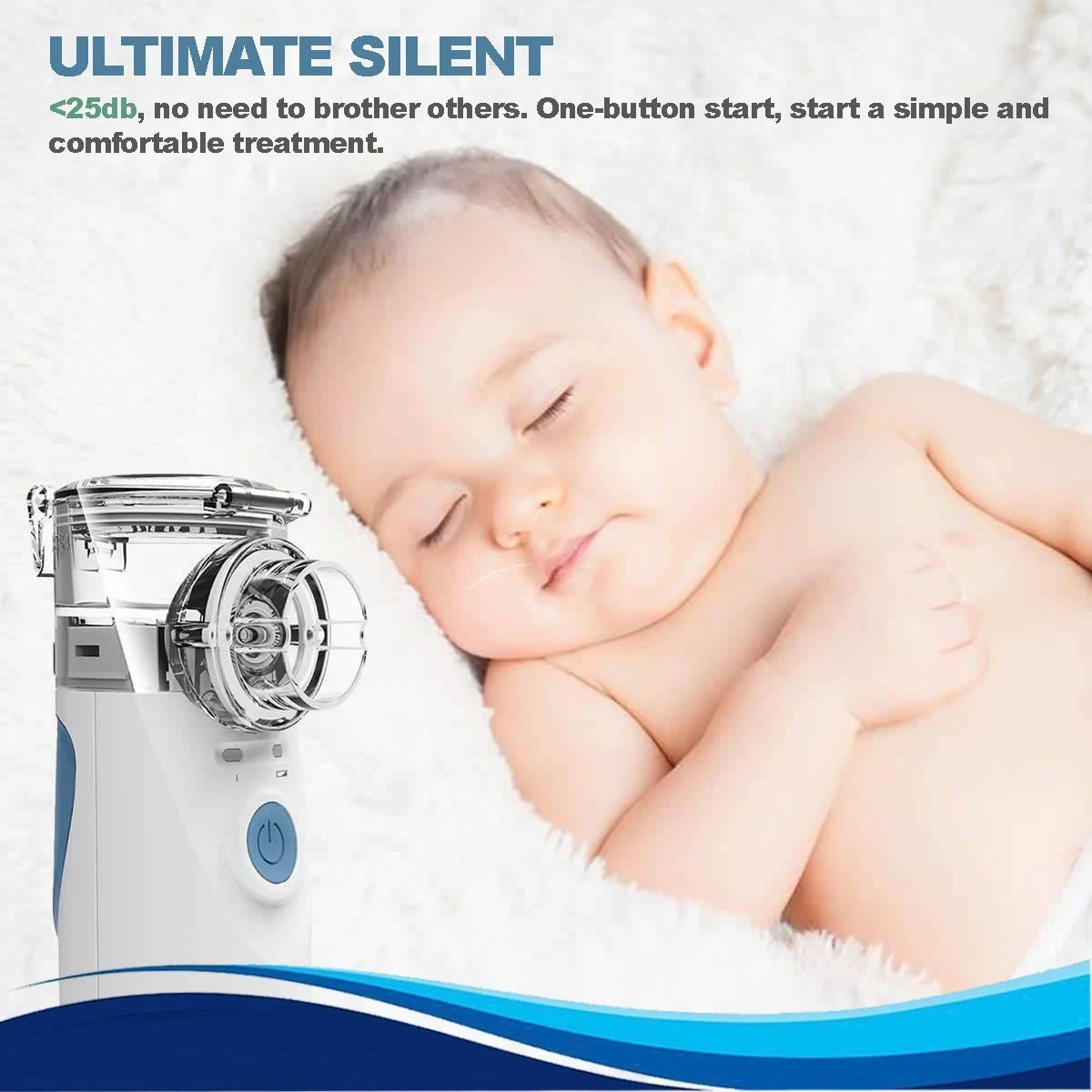 Portable Ultrasonic Nebulizer for Children and Adults