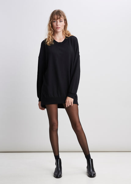 Black Lux Jersey Sweater