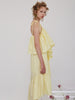 Yellow Ruffled Strap Dress