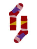 Abstract Art Camouflage Patterned Red Designer Socks