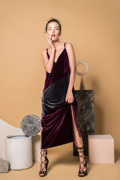 Ame Velvet Slip Dress