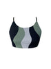 Antibes Crop Top Green Black Grey