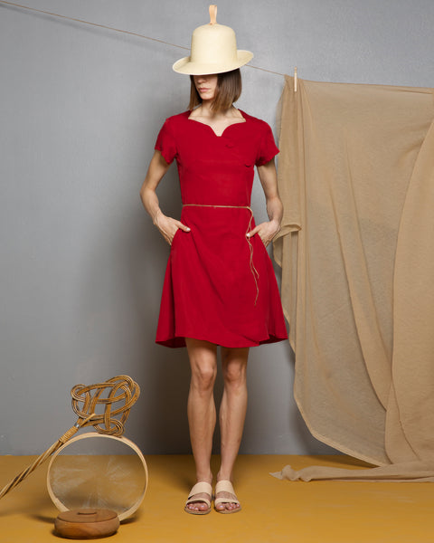 Bauxite Red Tencel Dress