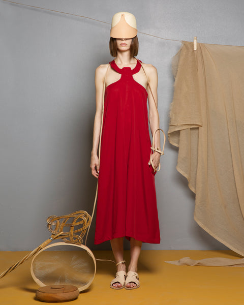 Bauxite Red Tencel Jumpsuit
