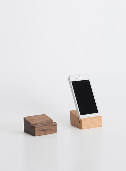 Black Walnut Square Phone Holder